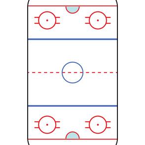 2 yard crib sheet layout - ice hockey rink - LAD19