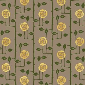 Rose Trellis Gold flowers