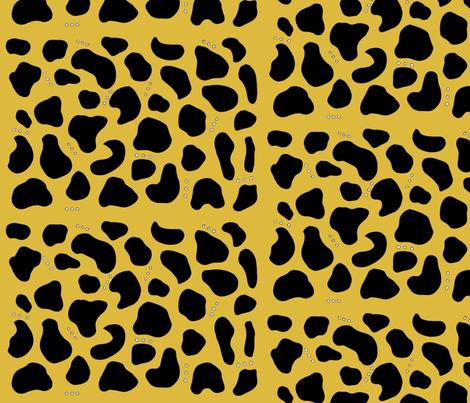 Pebbles & Rock in Mustard fabric by simplybykt on Spoonflower - custom fabric