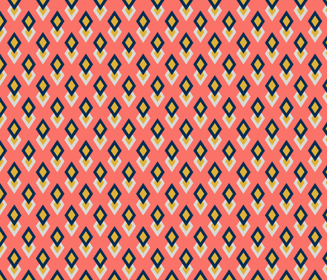 Double diamond harlequin fabric by dollingham_boutique on Spoonflower - custom fabric
