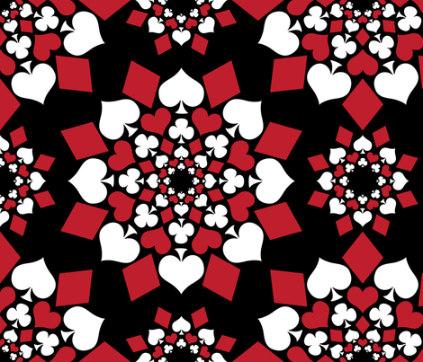 A Suit of Flowers (Large Scale) fabric by robyriker on Spoonflower - custom fabric