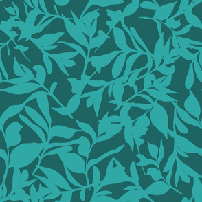 Forest Floor on Dark Teal