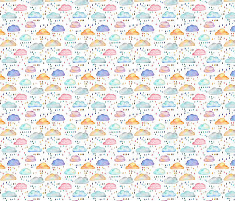 Rainclouds - smaller scale fabric by emeryallardsmith on Spoonflower - custom fabric