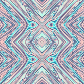 GP12 - XL -  Geometric Pillars in Pastel Pink and Blue
