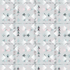 Abstract geometric pattern of light shades.