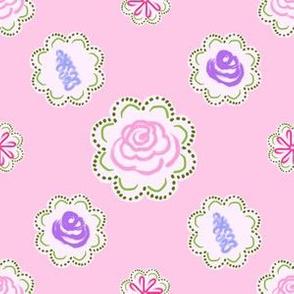 Garden Circles - Light Pink