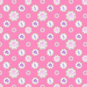 Garden Circles - Pink - Small Scale