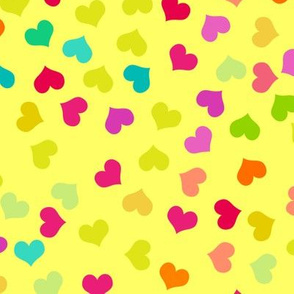 Small Vibrant Colorful Hearts