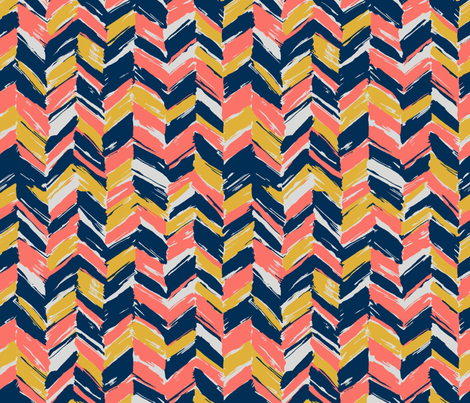 Coral Herringbone fabric by love_&_cloth on Spoonflower - custom fabric
