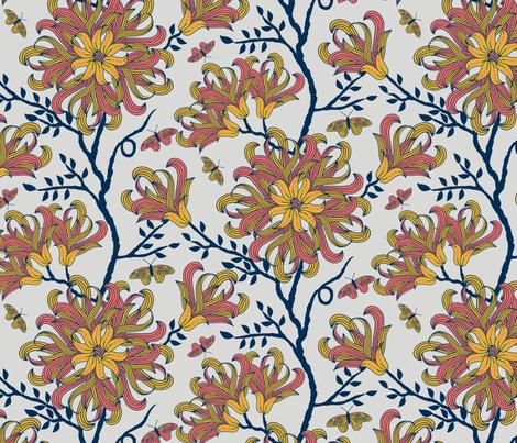 Butterfly floral fabric by jennablackzen on Spoonflower - custom fabric