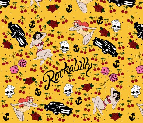 Rockabilly style. fabric by maria81 on Spoonflower - custom fabric