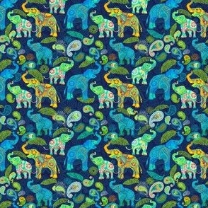 TINY ASIAN ELEPHANTS BLUE