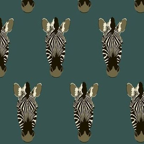 Zoe the zebra in deep teal (small)