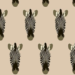 Zoe the Zebra in tan (small)
