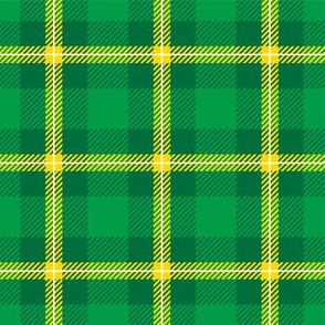 St Patrick's Day Green Gold Plaid-01
