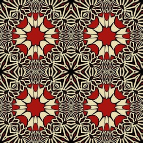 F-Red Flower Tile