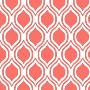ogee fabric - traditional fabric, coral fabric, living coral fabric, pantone fabric,