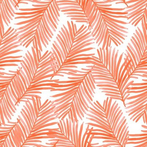 palm print - coral palm, palms, living coral, tropical print, color of the year, 2019