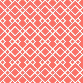 trellis fabric - coral fabric, living coral fabric, pantone fabric, color of the year fabric, home decor fabric - trellis