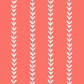 vine fabric - coral vine, vines fabric, simple coordinate, decor fabric, spoonflower fabric, living coral fabric, pantone fabric
