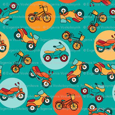 bike_pattern_turquoise