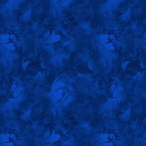 Sapphire Blue Abstract Feather Pattern