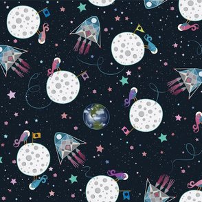 Starry Moon Princess awesome moon landing