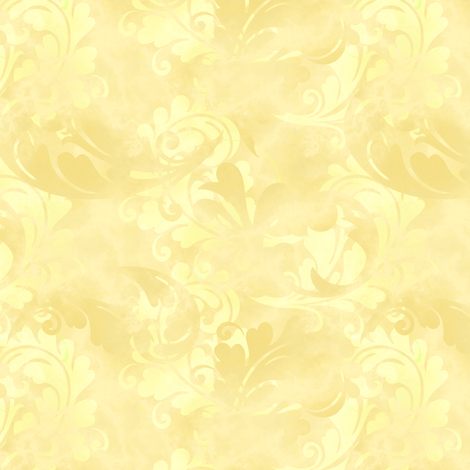 Pastel Yellow Abstract Feather Pattern Wallpaper
