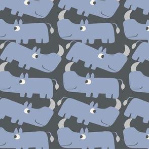Romping Rhinos - Charcoal