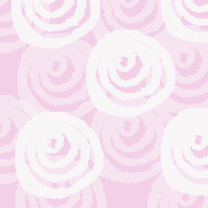 Fairytale Floral  White Swirl blooms