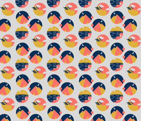 Immediate Adventure - Living Coral fabric by roseg_illustration on Spoonflower - custom fabric