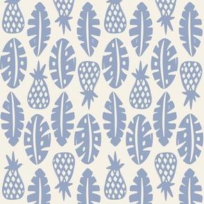 Rainforest - Cream Periwinkle Blue