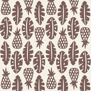 Rainforest - Cream Brown