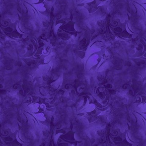 Amethyst Purple Abstract Feathers Pattern