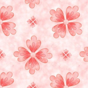Coral Flowers Pattern