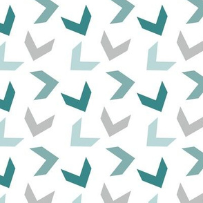 random arrows teal gray white