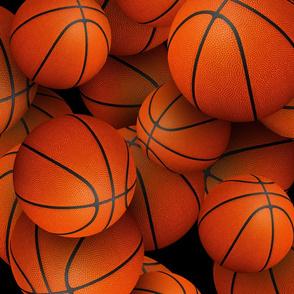 neverending basketballs on black