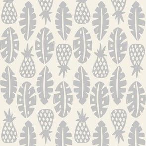 Rainforest - Cream Grey