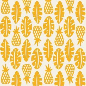 Rainforest -Cream Golden Yellow