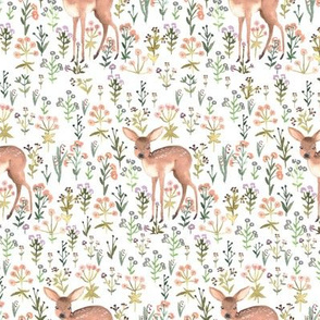 Flowers and fawn pastel