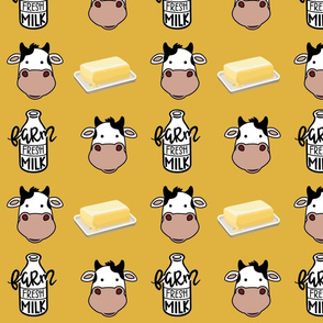 Mustard Cows Milk and Butter