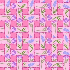 Garden Basket Weave - Pink