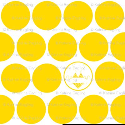 Yellow-Polka Dot Bikini