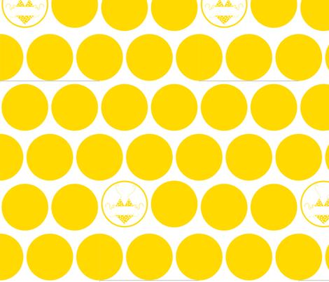 Yellow-Polka Dot Bikini fabric by kae50 on Spoonflower - custom fabric