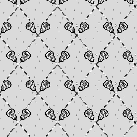 Lacrosse Gray small scale fabric by mrshervi on Spoonflower - custom fabric