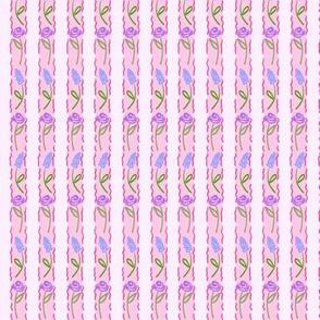 Garden Vertical Rows - Pink