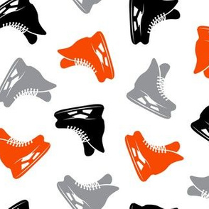 ice hockey skates - black grey and orange LAD19