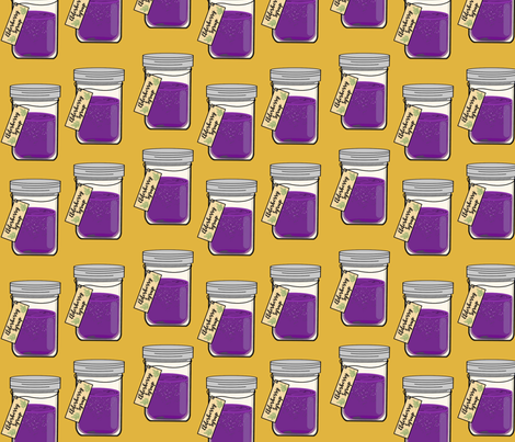 Mustard Elderberry Syrup fabric by wangsholswords on Spoonflower - custom fabric