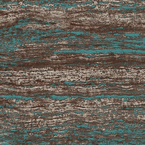 Blue brown abstract melange waves