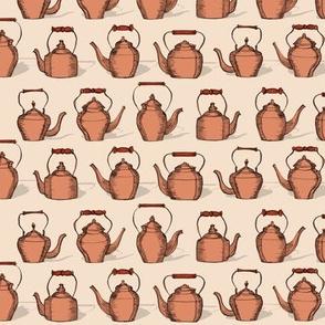 Vintage copper kettles squad
